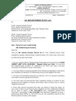 Recall Notice Shiddhivinayak Autoline