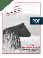 Montana Supreme Angus Female Sale Catalog 2010