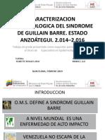 CARACTERIZACION EPIDEMIOLOGICA DEL SINDROME DE GUILLAIN BARRE.pptx