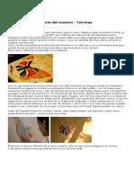 Tecnicas de Arte Del Mosaico