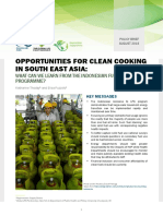 OPPORTUNITIES FOR CLEAN COOKING IN SOUTH EAST ASIA