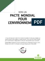 PACTE MONDIAL POUR L'ENVIRONNEMENT
