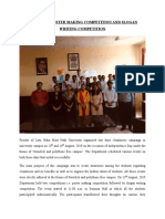 REPORT ON POSTER MAKING COMPETITION AND SLOGAN WRITING COMPETITION