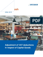 Adjustment of VAT deductions in respect of Capital Goods | News Flash