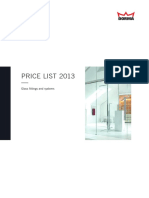 Glass Price List 2013 ENG