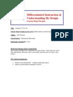 differentiated activities
