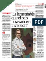 Es Lamentable Que El Perú No Avance en Inversión