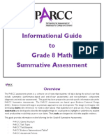 Informational Guides to a grade 8 math
