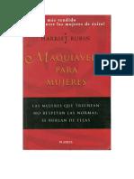 Rubin, Harriet - Maquiavelo para Mujeres [doc].pdf