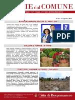 Notizie Dal Comune di Borgomanero del 16 Agosto 2019