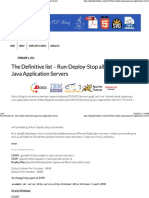 Appication Server Start Stop