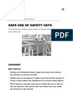 Safe Use of Safety Nets Worksafe Construction