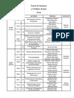 4. Exámenes 1º y 2º Turno Julio 2019