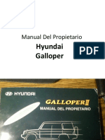 Manual Del Propietario Hyundai Galloper