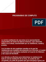 13. Programas de Cómputo de Ventilación