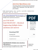 ouioECTROSTATIC Multiple Choice Questions and Answers Pdf