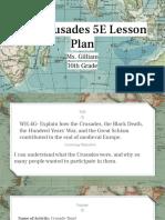 crusades 5e lesson plan