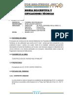 informe técnico de verificación Ley Nº 27157