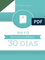 Reto de Lectura Biblica 30 Dias Booklet