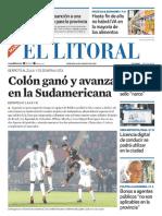 El Litoral Mañana 16/08/2019