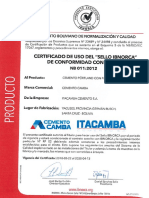 Itacamba Certificado Calidad If40
