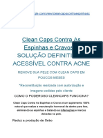 Clean Caps Contra as Espinhas e Cravos - Clean Caps Funciona - Onde Comprar Clena Caps - Qual o Preço do Cleaan Caps