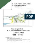 Plan maestro de desarrollo de la costa verde