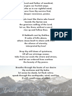 Dear Lord and Father of Mankind Hymn Poster