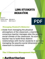 Handling Students Behavior