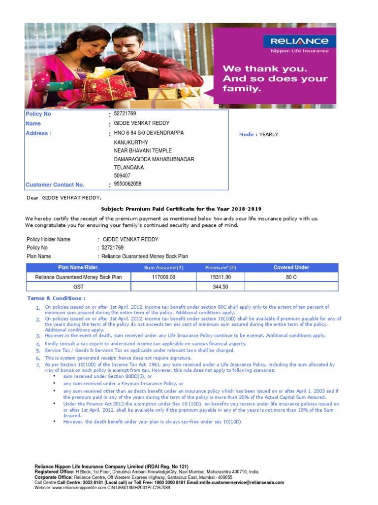 Cpr 52721769 Pdf Life Insurance Insurance