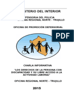 Plan de Charla de Los Derechos Del Discapacitado
