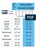 harlan bell schedule with dates 19-20