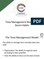 Time Management Model and Seven Habits