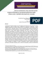 Desafios no Ensino da Matemática nos Anos Iniciais do Ensino Fundamental em Instituições Escolares Públicas do 3º Distrito de Duque de Caxias/RJ.