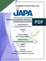 Tarea 4, Legislacion Monetaria y Financiera 02-08-2019