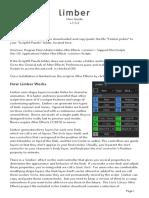 Limber User Guide v.1.5.2