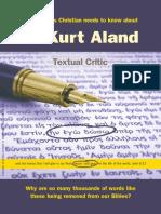 The Doctrinal Views of Dr Kurt Aland