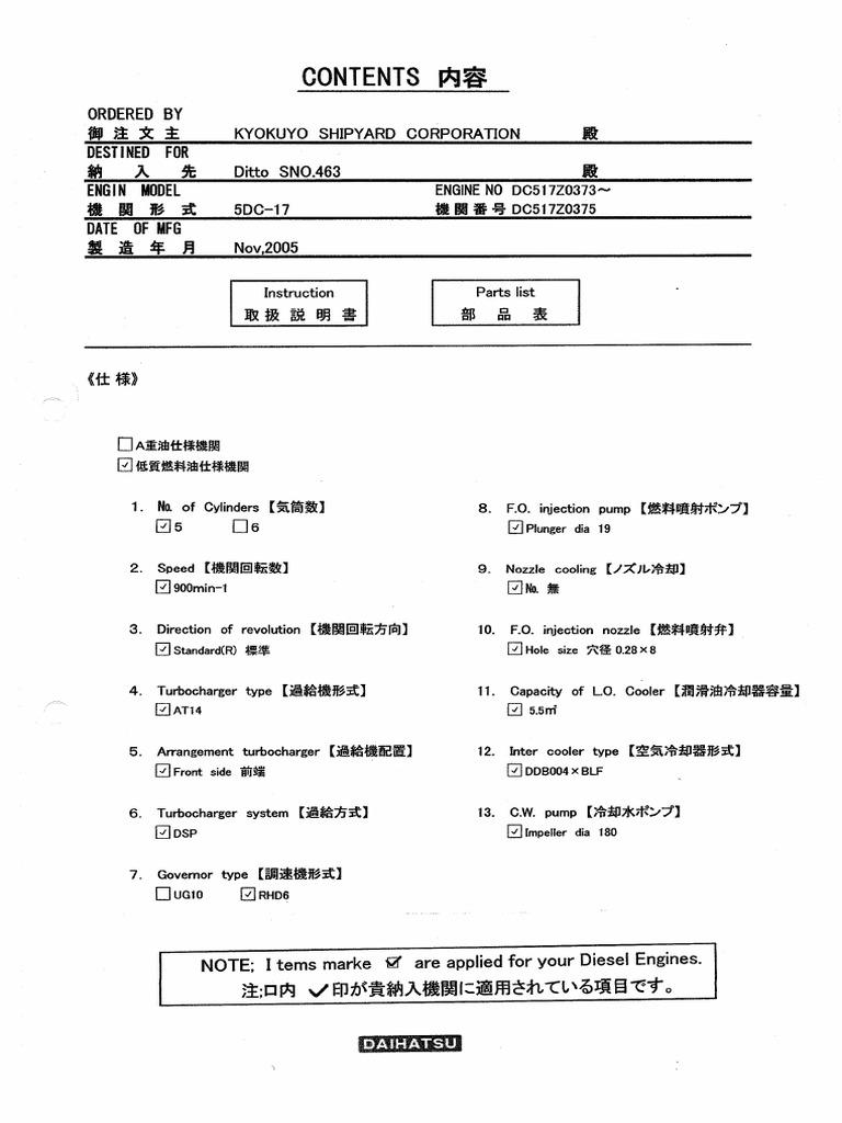 Daihatsu Diesel Engine DC17 Pdf