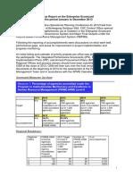 Status Report on the Enterprise Scorecard for the Period Jan to Dec 2013 (1)