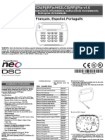 PS Neo HSK2LCD ICON LED RF Keypad v1 0 Installation Guide R001 en Fr Es Po