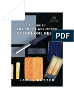 A Guide to the Art of Adjusting Saxophone Reeds 1