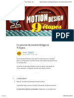 Le process du motion design en 9 étapes