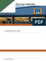 Aldi the German Aldi the German Retailer
