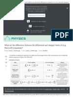 Maxwell's equations summary sheet