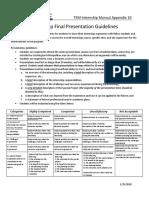 Internship Appendix 10 Internship Presentation Guidelines TEM