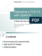 Deploying a TLS CA with OpenCA