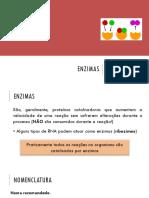 Bioquímica - Aula 4 - Enzimas