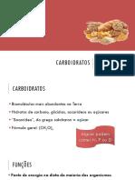 Bioquímica - Aula 6 - Carboidratos
