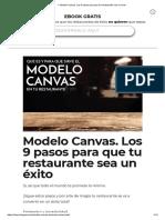 ▷ Modelo Canvas. Los 9 pasos para que tu Restaurante sea un éxito
