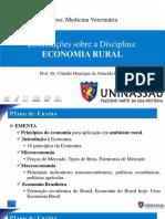Aula 1 - Introdução a Economia Rural